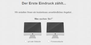 Webdesign-Angebot