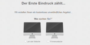 Webdesign-Angebot
